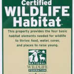 The campus is certified with the National Wildlife Federation.