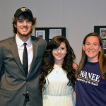 Meridith (center) received a soccer scholarship to Berry College.