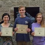 Julia (left) won the high school leadership award at Indian Springs School. She is also the ISS commissioner of education.
